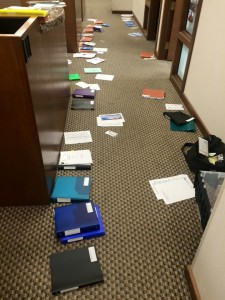 Magic Box Scattered in Hallway