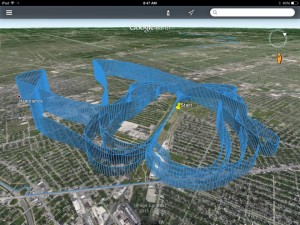 Track from Training FLight with FOD